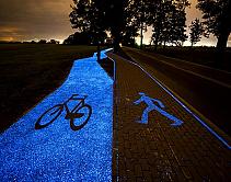 Na Polônia, uso da energia solar permite ciclovia brilhar durante a noite